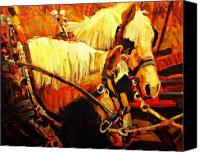 Horse Painting Canvas Prints - A-team Canvas Print by Brian Simons