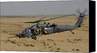 Operation Iraqi Freedom Canvas Prints - A U.s. Air Force Hh-60 Pavehawk Flies Canvas Print by Stocktrek Images