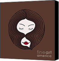 Sweet Art Canvas Prints - A woman Canvas Print by Frank Tschakert