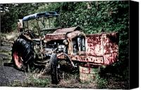 Tractor Wheel Canvas Prints - Abandoned Tractor Canvas Print by Gert Lavsen
