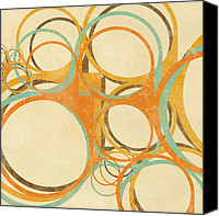 Circle Digital Art Canvas Prints - Abstract Circle Canvas Print by Setsiri Silapasuwanchai