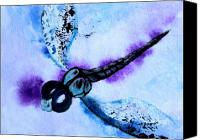 Dragonfly Art Canvas Prints - Abstract Dragonfly 1 Canvas Print by J Vincent Scarpace