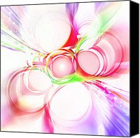 Circle Digital Art Canvas Prints - Abstract Of Circle  Canvas Print by Setsiri Silapasuwanchai