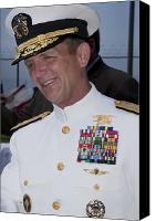 Merit Photo Canvas Prints - Admiral Eric T. Olson Speaks Canvas Print by Michael Wood