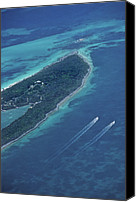 Motor Boats Canvas Prints - Aerial Of The Bahamas Canvas Print by Kenneth Garrett