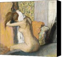 Impressionist Canvas Prints - After the Bath Canvas Print by Edgar Degas