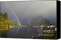 Alpine Canvas Prints - After the rain in Reine Canvas Print by Heiko Koehrer-Wagner