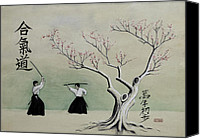 Martial Arts Canvas Prints - Aikido Always Beginning Canvas Print by Scott Manning