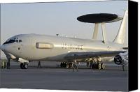 Awacs Canvas Prints - Airmen Prepare A U.s. Air Force E-3 Canvas Print by Stocktrek Images