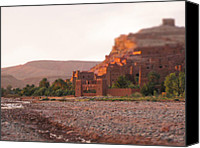 Miniature Effect Canvas Prints - Ait Benhaddou Canvas Print by Oleg Ivanov