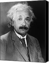 Albert Canvas Prints - Albert Einstein 1879-1955 Canvas Print by Everett