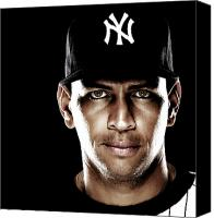 Anibal Diaz Canvas Prints - Alex Rodriguez by GBS Canvas Print by Anibal Diaz