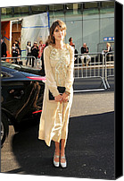 Ballet Slippers Canvas Prints - Alexa Chung Wearing A Marc Jacobs Dress Canvas Print by Everett