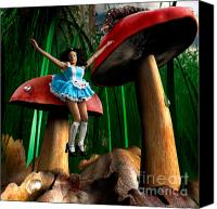Mushroom Canvas Prints - Alice in Wonderland Canvas Print by Oleksiy Maksymenko