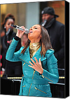 Appearance Canvas Prints - Alicia Keys On Stage For Nbc Today Show Canvas Print by Everett