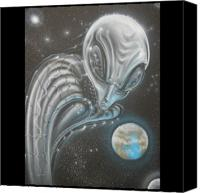 Aliens Canvas Prints - Alien Influence Canvas Print by John Shook