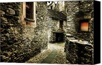 Old Wall Canvas Prints - Alley Canvas Print by Joana Kruse