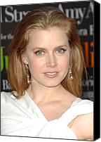 Dangly Earrings Canvas Prints - Amy Adams At Arrivals For Julie & Julia Canvas Print by Everett