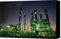 Twilight Views Canvas Prints - An Oil Refinery At Dusk Canvas Print by Lynn Johnson