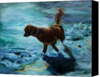 Animals Painting Special Promotions - And Where Canvas Print by Diane Kraudelt