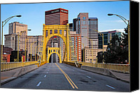 Pittsburgh Pirates Canvas Prints - Andy Warhol Bridge  Canvas Print by Emmanuel Panagiotakis