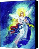 Angel Blues  Painting Canvas Prints - Angel of Joy Canvas Print by Doris Blessington