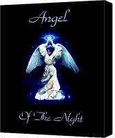 Vatican Digital Art Canvas Prints - Angel of the Night Canvas Print by Garry Staranchuk