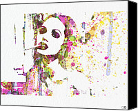 Jolie Canvas Prints - Angelina Jolie 2 Canvas Print by Irina  March