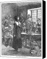 Edwin Canvas Prints - Anne Hutchinson (1591-1643) Canvas Print by Granger