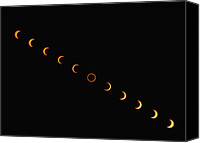 Solar Eclipse Canvas Prints - Annular Solar Eclipse, 10 May 1994 Canvas Print by Dr Fred Espenak