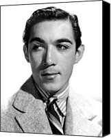 1950s Fashion Canvas Prints - Anthony Quinn, Paramount Pictures, 1938 Canvas Print by Everett
