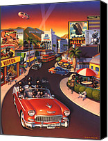 Screen Canvas Prints - Ants on the Sunset Strip Canvas Print by Robin Moline
