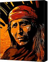 Apache Canvas Prints - Apache Warrior Canvas Print by Paul Sachtleben
