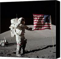 Success Photo Canvas Prints - Apollo 17 Astronaut Salutes The United Canvas Print by Stocktrek Images
