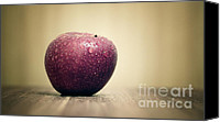Red Apple Canvas Prints - Apple Canvas Print by Kristin Kreet