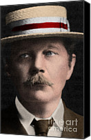 Ignatius Canvas Prints - Arthur Conan Doyle, Scottish Author Canvas Print by Science Source