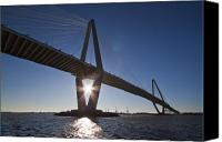 Ravenel Bridge Canvas Prints - Arthur Ravenel Jr. Bridge Charleston SC Canvas Print by Dustin K Ryan