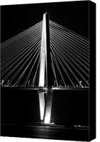 Lowcountry Canvas Prints - Arthur Ravenel Jr. Bridge  Canvas Print by Dustin K Ryan