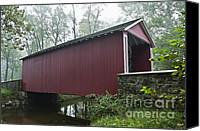 Ashland Canvas Prints - Ashland Covered Bridge Canvas Print by John Greim