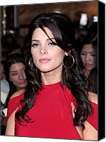 Gold Earrings Photo Canvas Prints - Ashley Greene At Arrivals For The Canvas Print by Everett