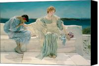 Alma-tadema; Sir Lawrence (1836-1912) Canvas Prints - Ask me no more Canvas Print by Sir Lawrence Alma-Tadema
