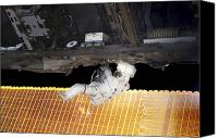 Demonstration Canvas Prints - Astronaut Participates In A Spacewalk Canvas Print by Stocktrek Images