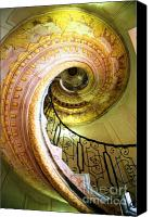 Spiral Staircase Canvas Prints - At A Snails Pace Canvas Print by Kate Philips