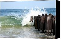 Jersey Shore Canvas Prints - Atlantic Fury Canvas Print by Kristi Jacobsen