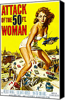 1950s Movies Canvas Prints - Attack Of The 50 Foot Woman, Allison Canvas Print by Everett