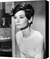 Hairstyle Photo Canvas Prints - Audrey Hepburn (1929-1993) Canvas Print by Granger
