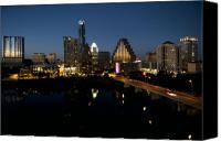 Austin Skyline Canvas Prints - Austin Skyline Canvas Print by John Gusky