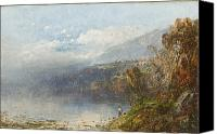 Androscoggin River Canvas Prints - Autumn on the Androscoggin Canvas Print by William Sonntag