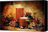 Thanksgiving Art Canvas Prints - Autumn Still Life Canvas Print by Stephanie Frey