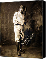 New York Yankees Canvas Prints - Babe Ruth, 1920 Canvas Print by Everett